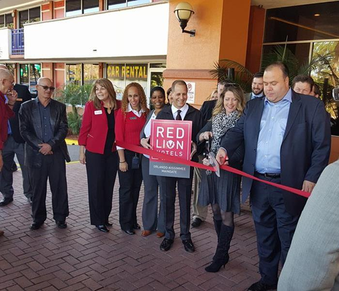 Ribbon Cutting at Red Lion Hotels