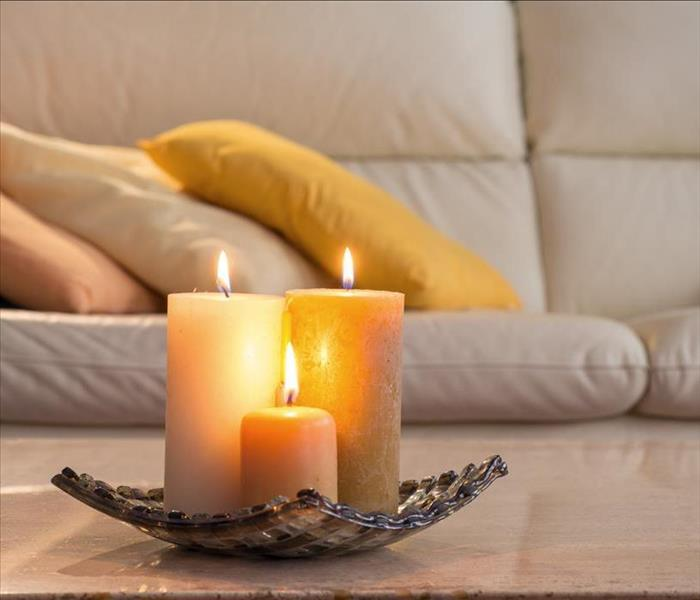 Fire Damage Home Candle Safety Tips