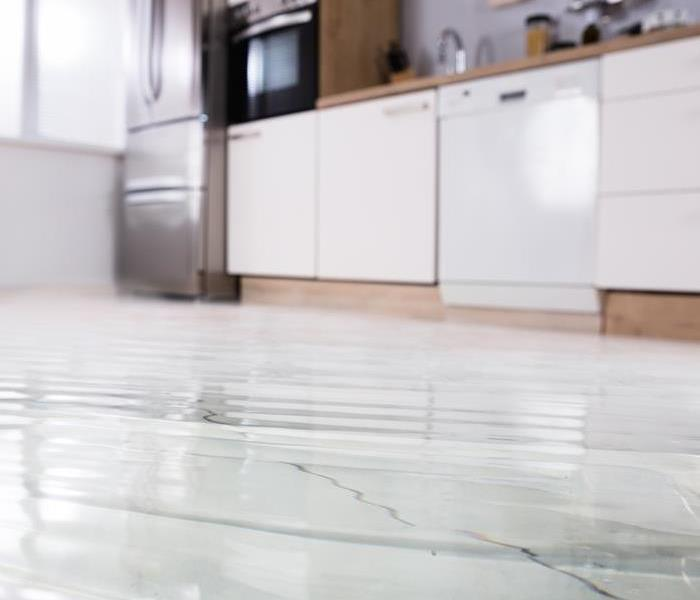 flooded floor kitchen